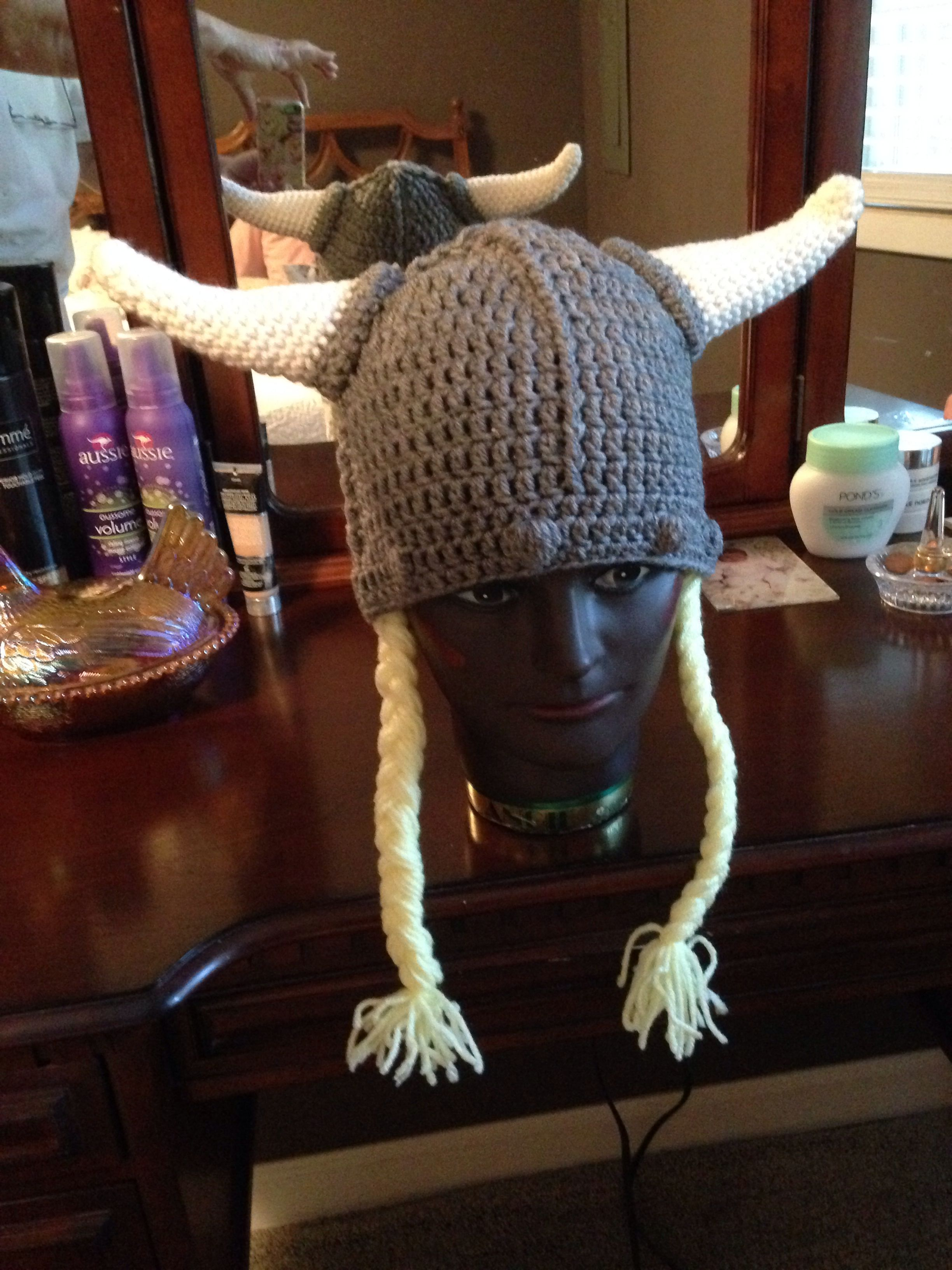 Adult viking hat Free viking helmet pattern by Pam Grennes ...