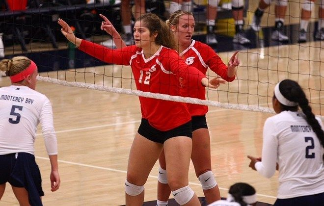 Stanislaus Goes 5 0 With Another Straight Set Road Win Stanislaus State Athlete Volleyball Team