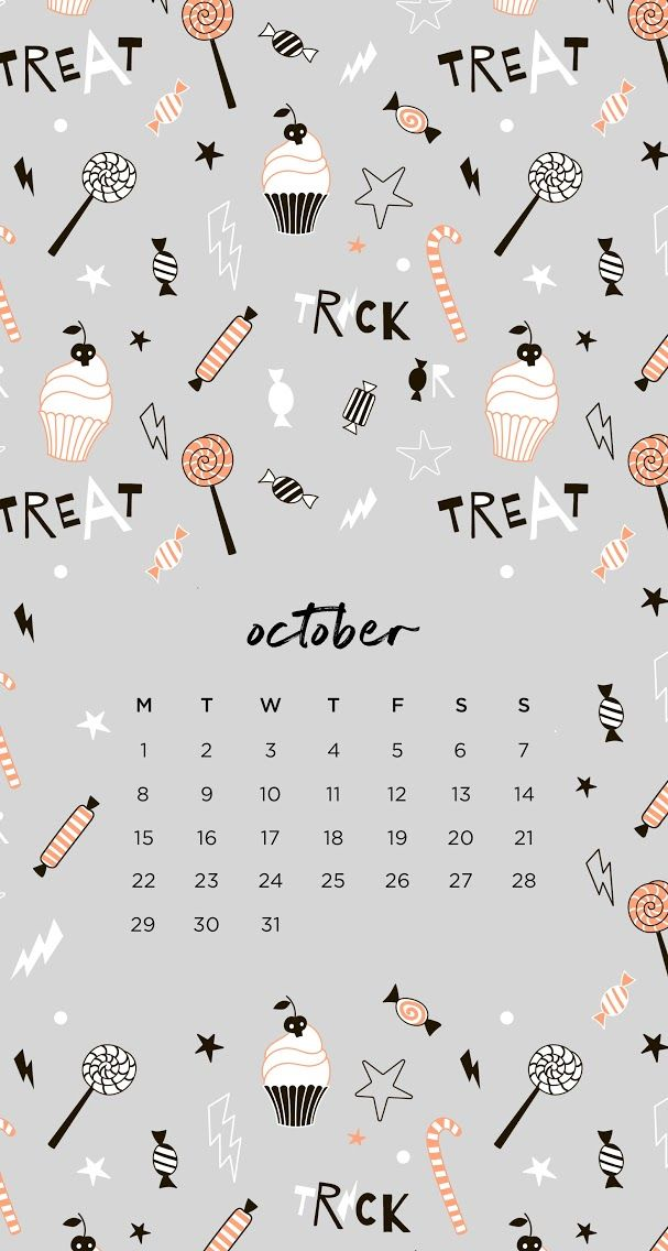 October 2018 calendar wallpaper iPhone Halloween #octoberwallpaperiphone