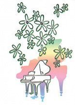 Schaum Recital Programs (Blank) #69: Flowers and Piano (25 Programs (Blank))