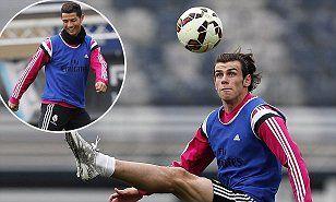 Real Madrid's Cristiano Ronaldo and Gareth Bale in high spirits #DailyMail