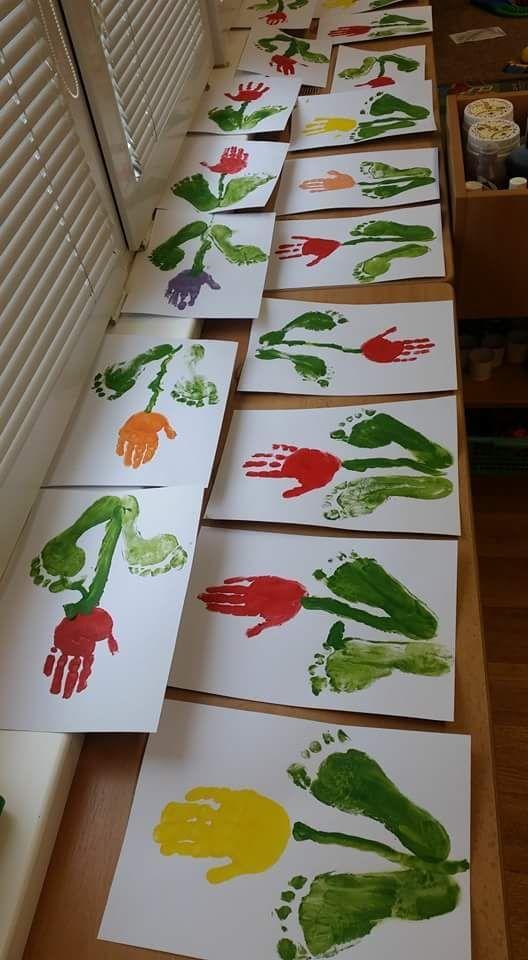 Spring art for kids. Great preschool art project