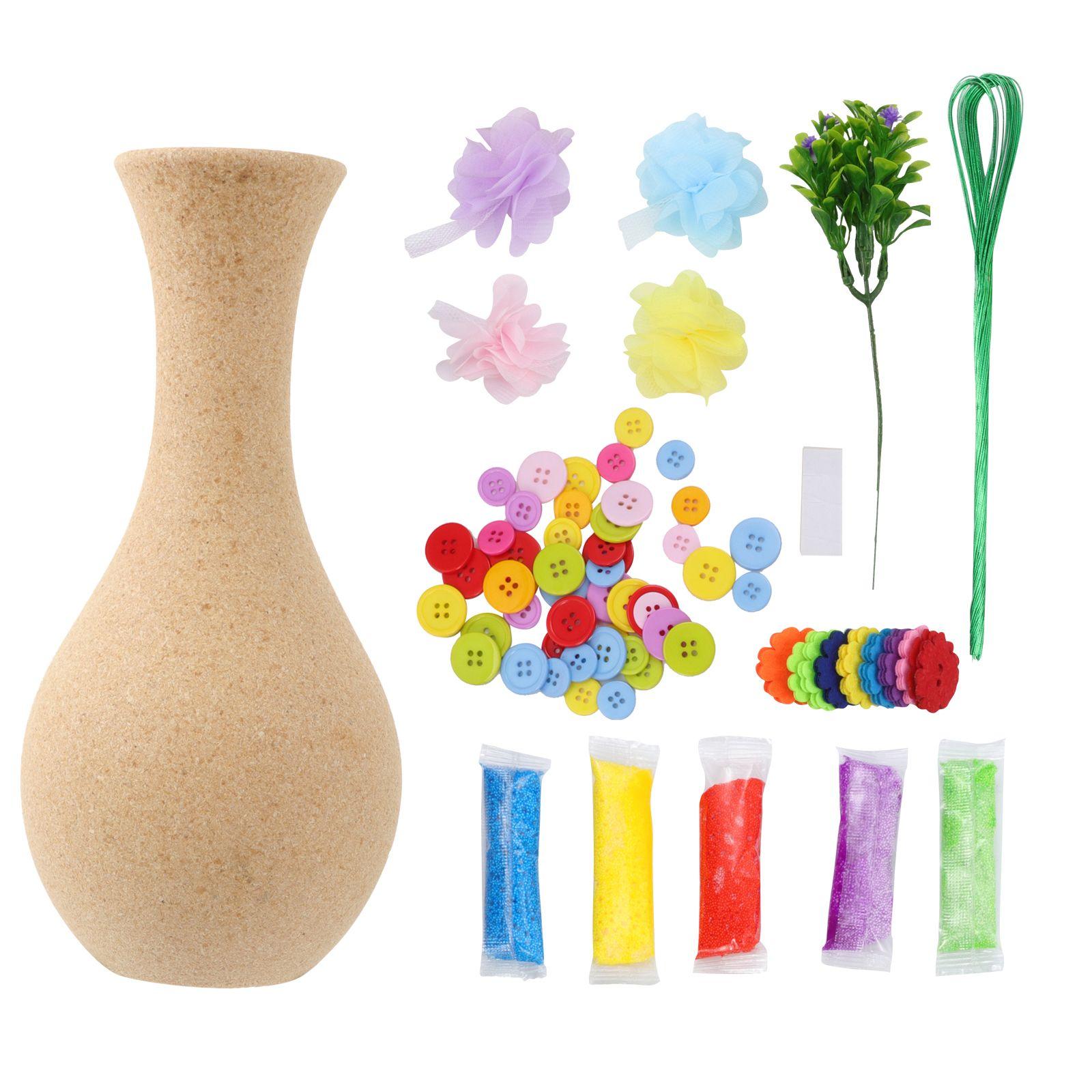 2 S?tze Flower Craft Handmade Kit Kinder Vase Kunst Spielzeug DIY Aktivit?t Geschenk Handwerk