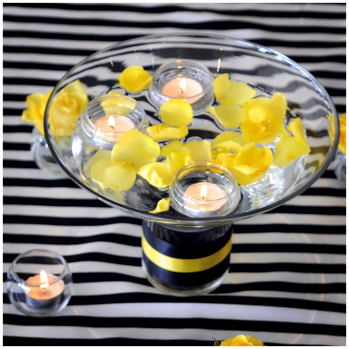 Black and white wedding decor ideas  Yellow and black  More wedding  Pinterest  Wedding Theme