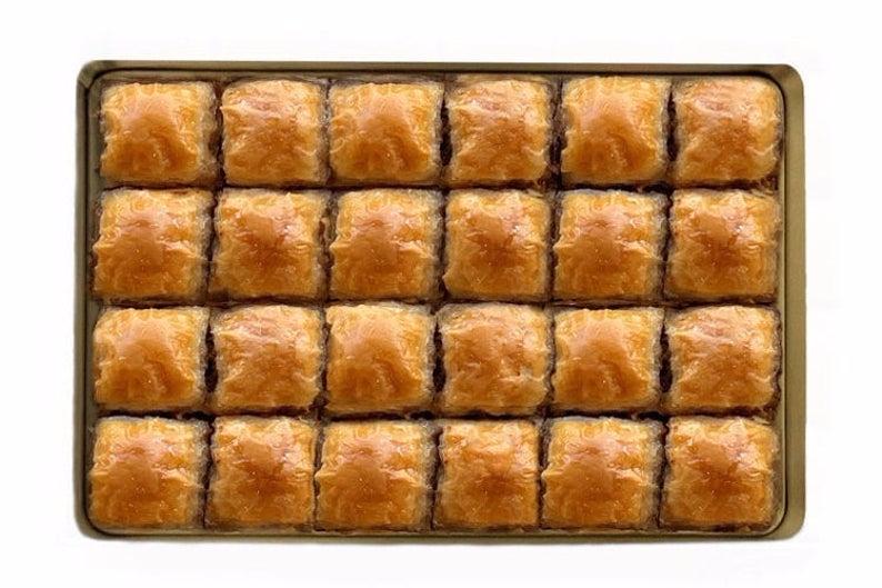 Handmade Walnut Baklava , 24 pieces in Metal Box  – Food 8