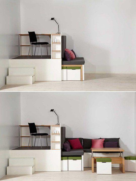 Multipurpose Convertible Furniture Small E Solutions Apartment Therapy