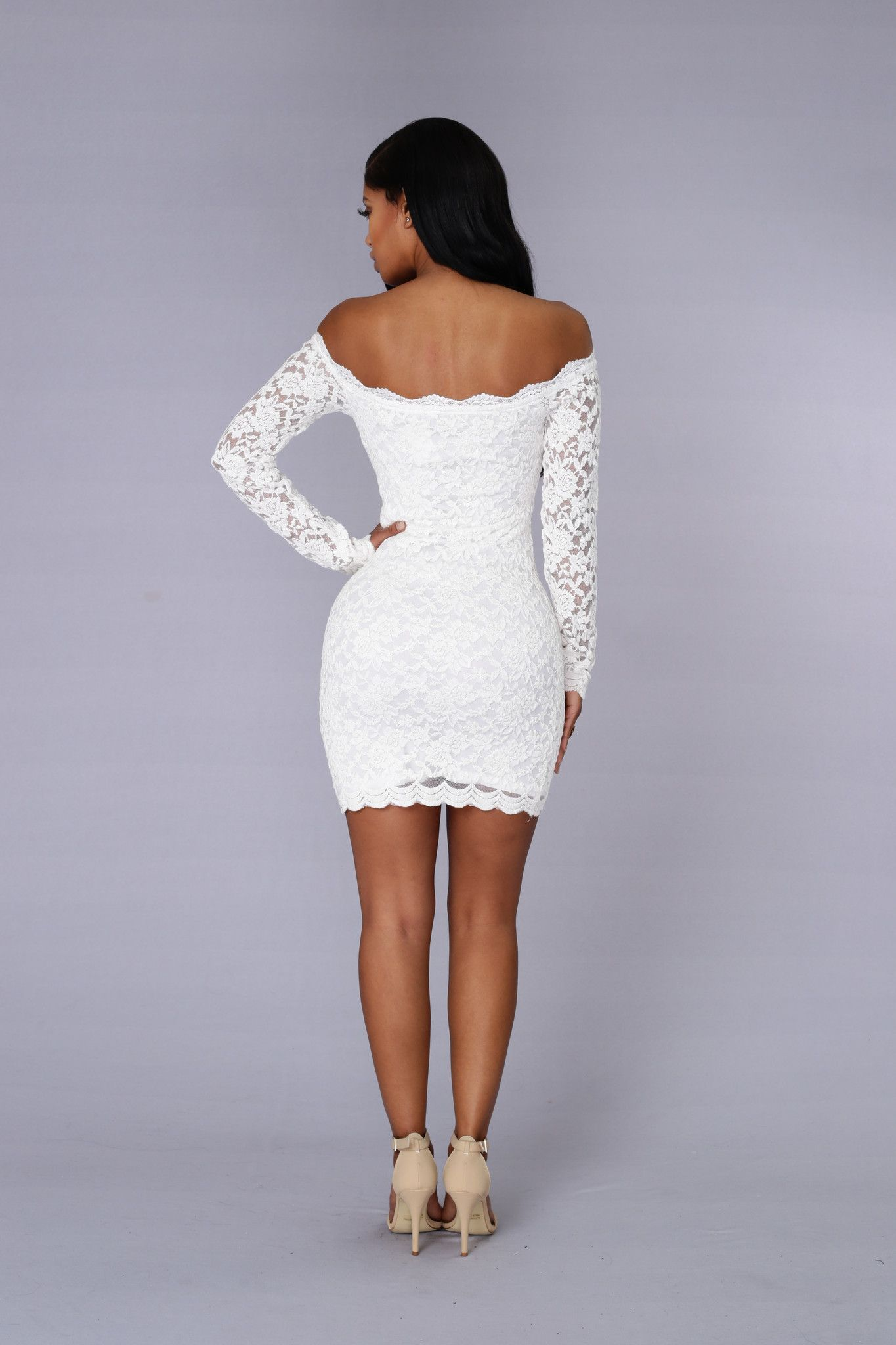 943399836 Off Shoulder Lace Bodycon Dress - White | fashionnova.com | Enter code for  15% off: XOMALL