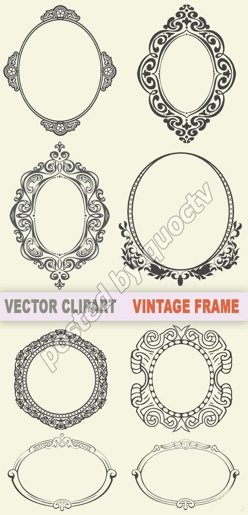 vintage frames- overlay for simple invitations??? | Tats | Pinterest ...