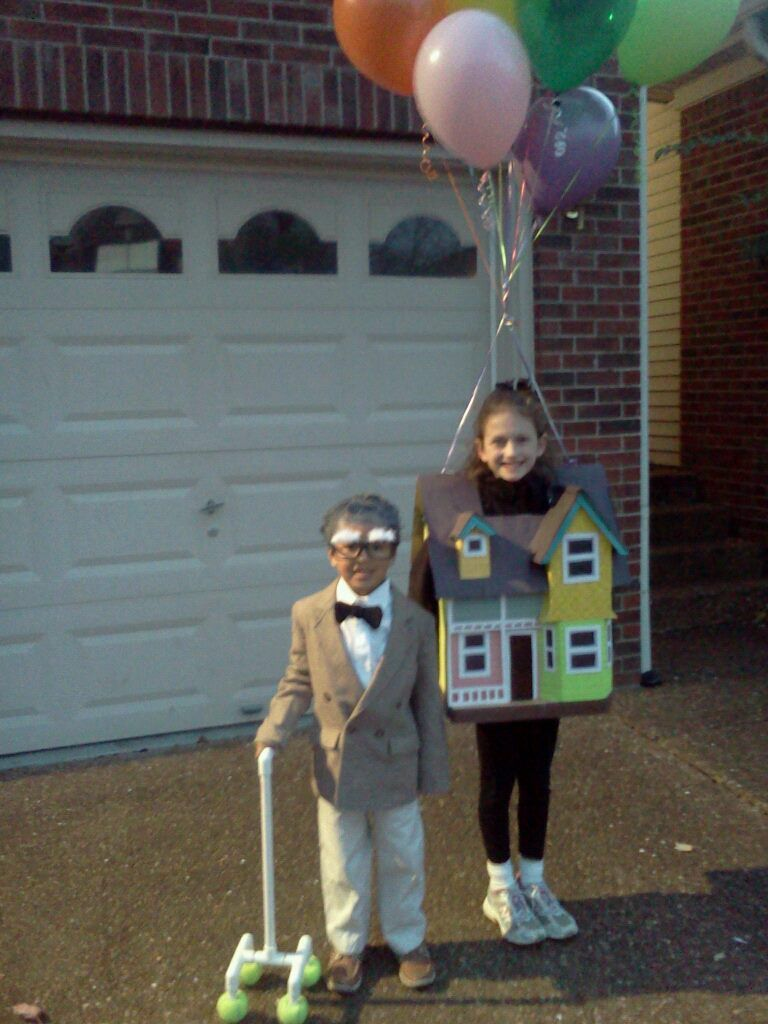 the best halloween costume ever the homemade up house and old man costume - Homemade Men Halloween Costumes