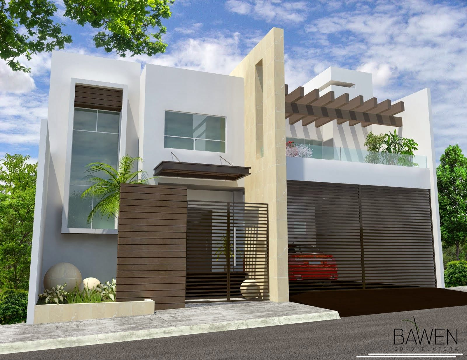 Fachada mirador 1 600 1 236 pixeles for Casa moderna 7 mirote y blancana