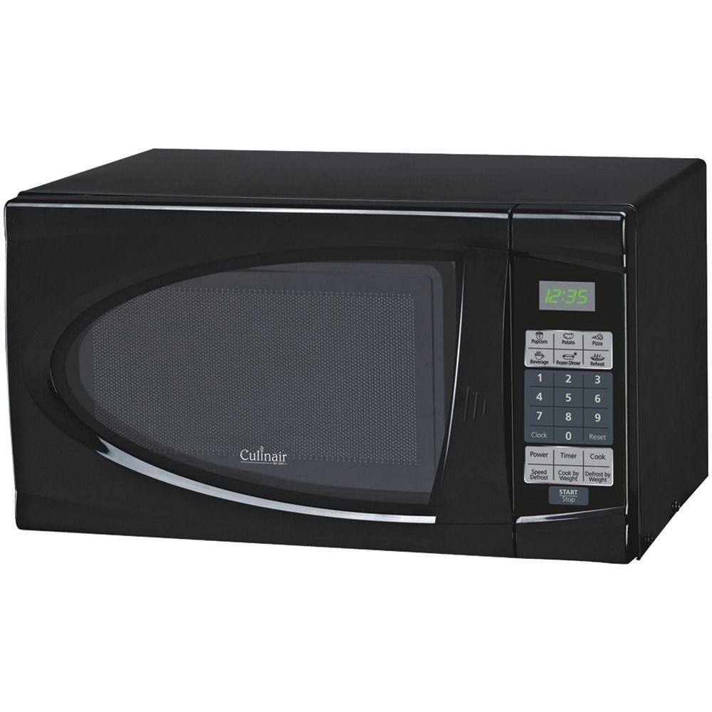 Culinair Am723b 7 Cubic Ft Black Kitchen Countertop Microwave Oven Culinair 700 Watt Microwave Countertop Microwave Oven Black Microwave