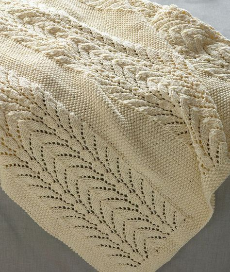 Free Knitting Pattern For Classic Lace Baby Throw This Baby