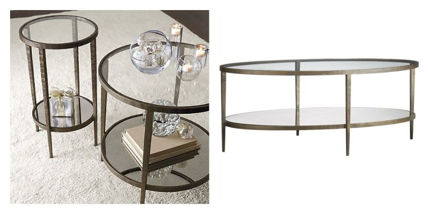 Brass And Glass Coffee Table From Crate And Barrel