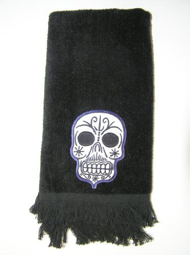 Exceptionnel Skull Bathroom Accessories  Skull Bath Towel