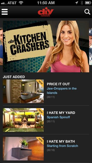 Diy Watch On The App Store On Itunes Diy Network Diy Kitchen Crashers
