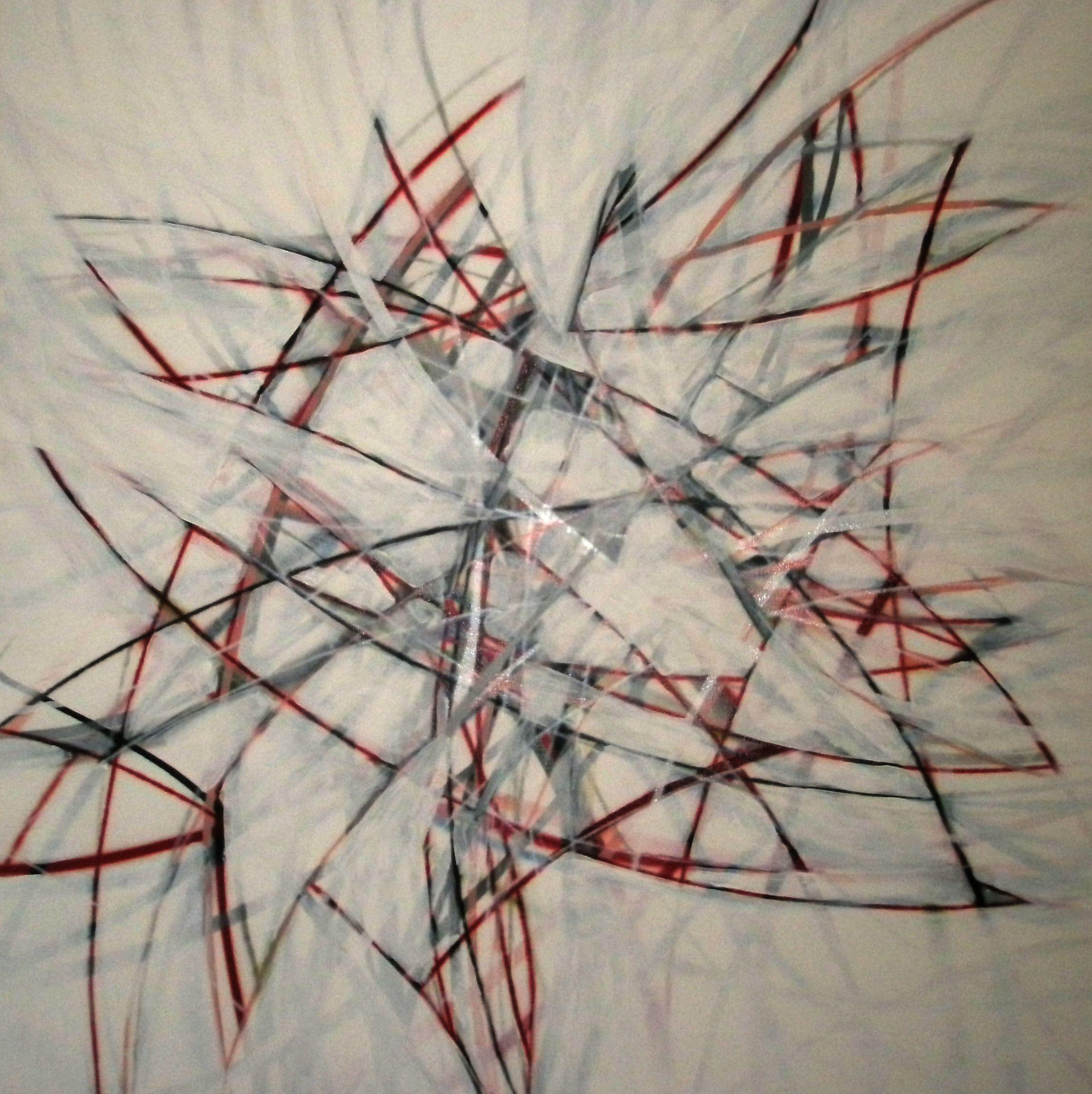 untitled [2008] spraycan & gesso on canvas - 140x140 cm