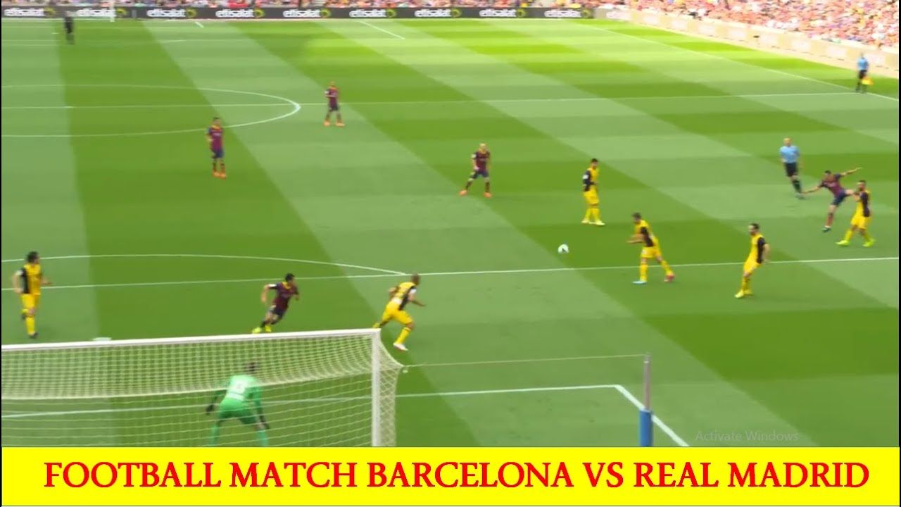 Footbal Match Competion Betweeen Barcelona And Real Madrid Sport One 11 In 2020 Real Madrid Real Madrid Team Madrid