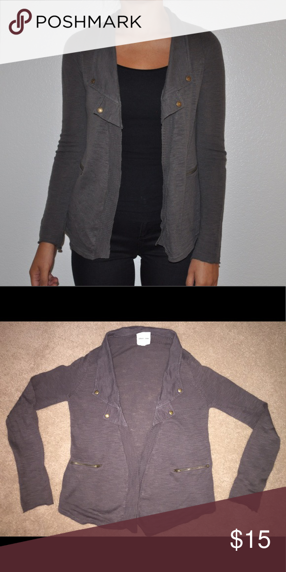 Casual Open Sweater Jacket Dark gray cotton open sweater jacket, great condition, fitted Urban Outfitters Sweaters Cardigans