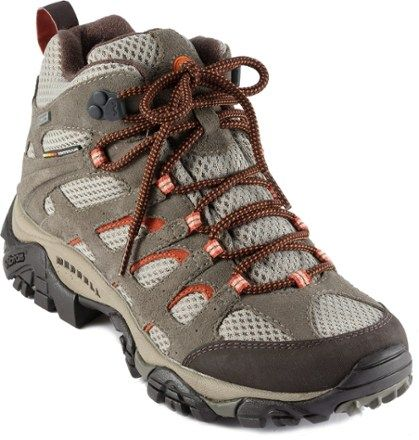 The Merrell Moab Mid waterproof light hikers work hard on all your warm- and wet-weather active endeavors. Available at REI, 100% Satisfaction Guaranteed.