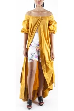 Robe Manteau by Christiane Ducteil fashion designer from Martinique FWI