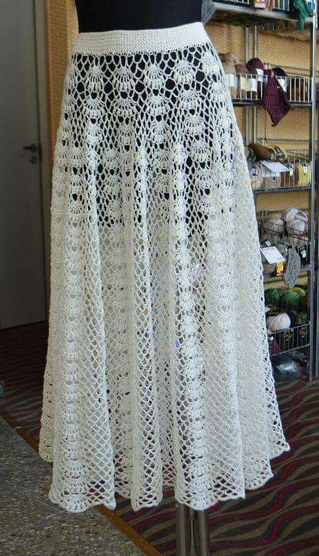 Skirt patterns | Crochet | Pinterest | Häkelkleider, Rock und ...