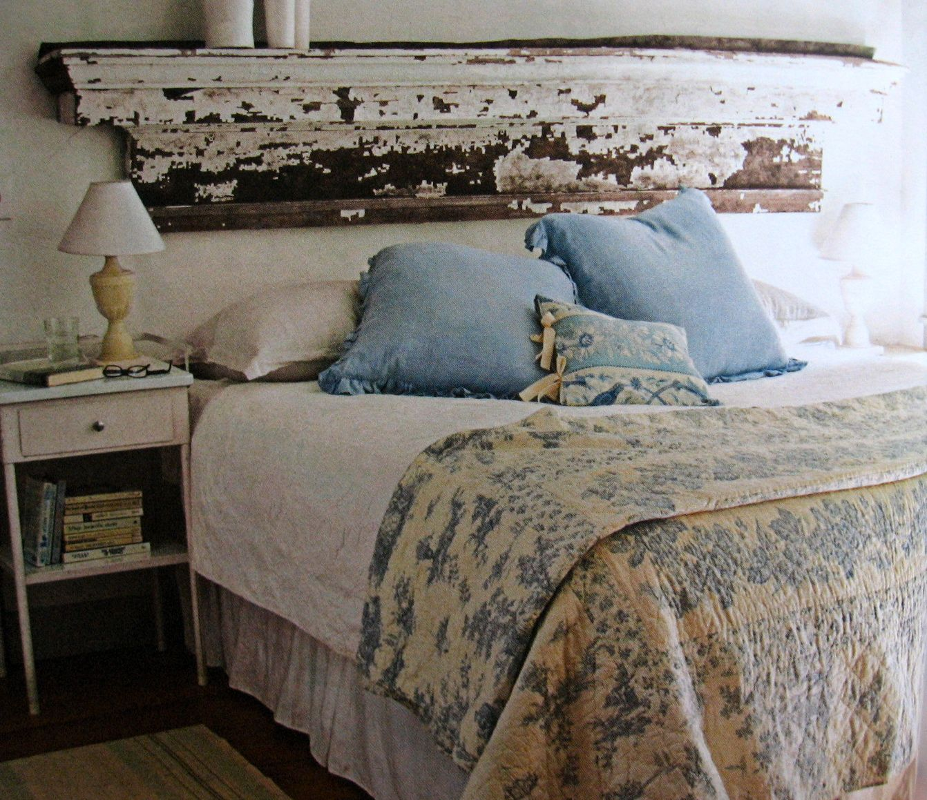 Master bedroom shelves above the bed  Flea Market Style  Bedroom Beauties  Pinterest  Flea market style