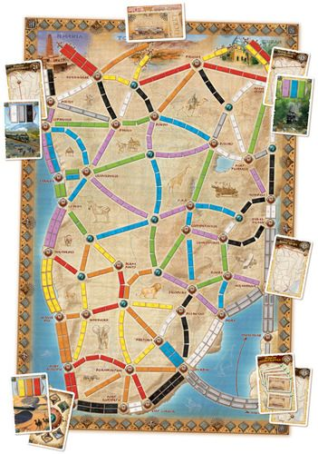 Ticket to Ride Map Collection Volume 3 The Heart of Africa board