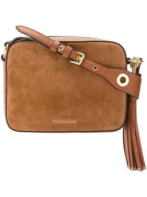 0fc7217dea78 MICHAEL MICHAEL KORS Large 'Brooklyn' Camera Crossbody Bag. # michaelmichaelkors #bags #shoulder bags #crossbody #suede #