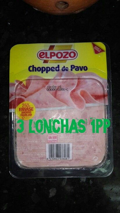 Chopped de pavo El Pozo