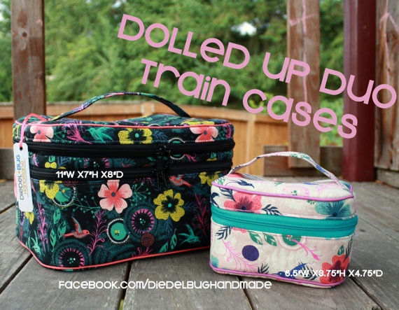 Dolled Up Duo Train Cases PDF pattern