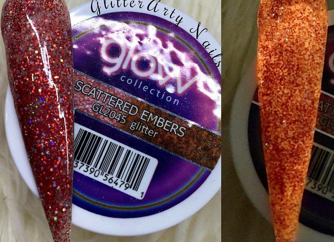 Glitterartynails Glam Glitz Glow Acrylic Scattered Embers