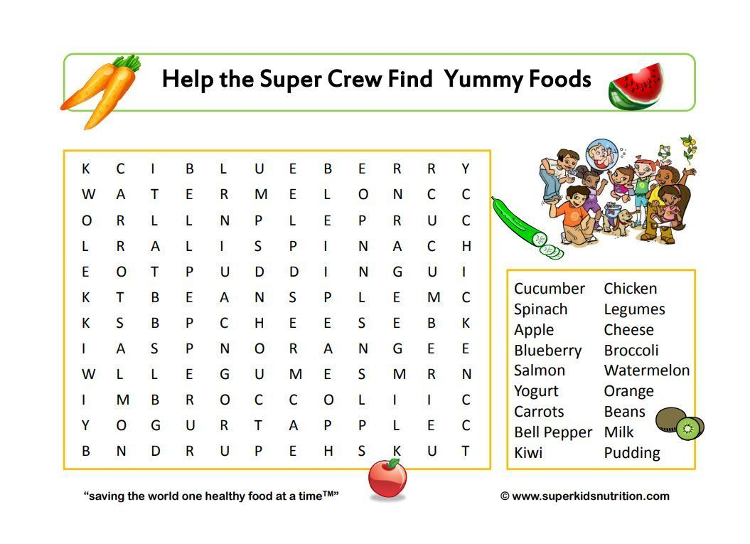 9 free printable nutrition worksheets for kids like ...