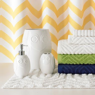 Love These Towels And The Idea Of Mixing In The Green And Blue W White    Happy Chic By Jonathan Adler Lola Bath Collection   Jcpenney