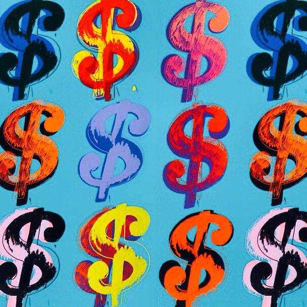 Andy Warhol Dollar Sign Painting