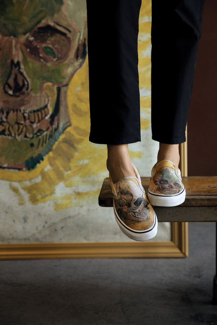Juxtapoz Magazine Vans Goes To The Ultimate Icon Creates Exclusive Collaboration With The Van Gogh Museum In Amsterdam Van Gogh Museum Sneaker Art Painted Canvas Shoes