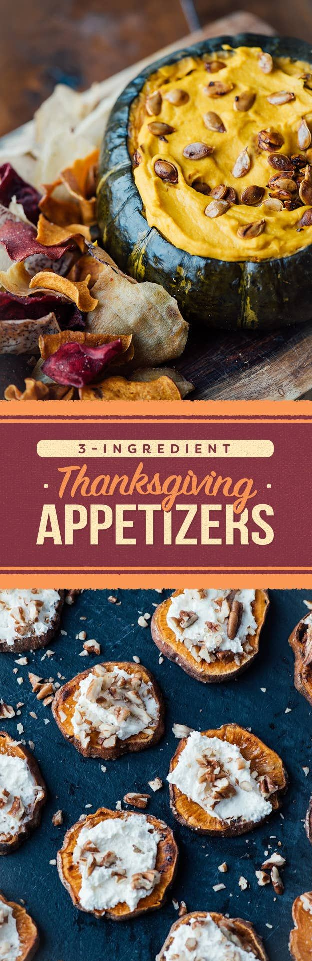 9 Easy 3Ingredient Appetizers To Make For Thanksgiving