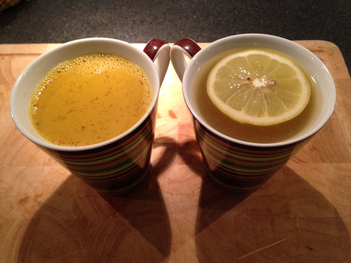 Turmeric Golden Almond Milk and Ginger Lemon Detox Water