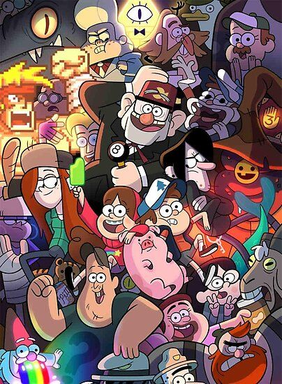 'Gravity Falls' Poster by Helena Riedeburg