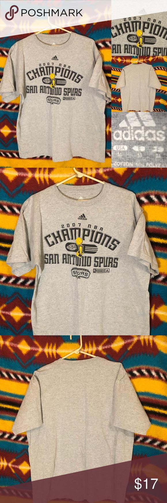 2007 San Antonio Spurs Championship T Shirt Size M Shirt Design Inspiration T Shirt Flowers Shirts [ 1740 x 580 Pixel ]