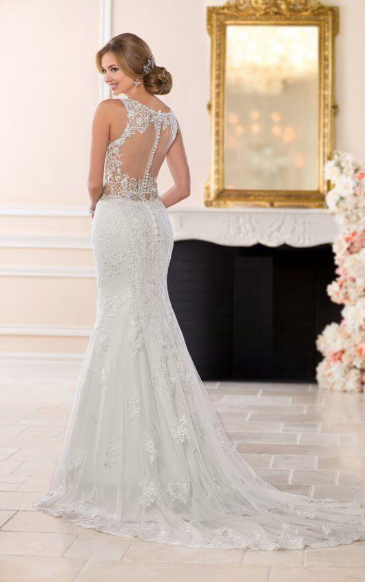 Classic Backless Wedding Dress