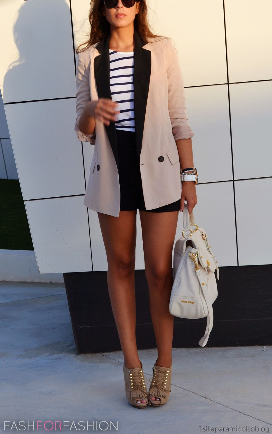 A great way to transition a blazer from winter to spring.