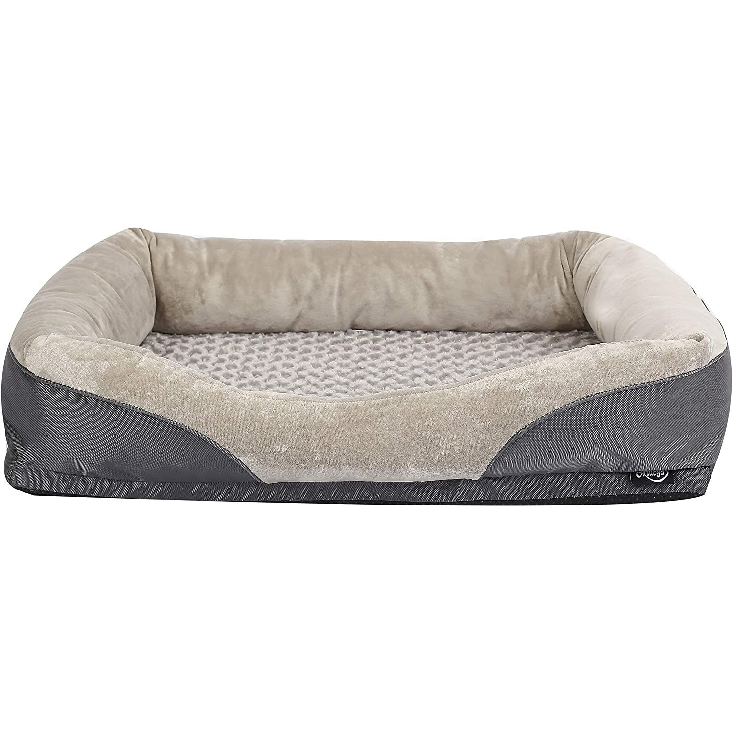 Niubya Large Orthopedic Dog Bed Waterproof Memory Foam Pet Bed With Removable Washable Cover Free Chewy Memory Foam Pet Bed Orthopedic Dog Orthopedic Dog Bed Pet bed with removable cover