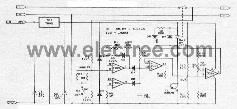 cd4b698122f103231a73a244cd96a9ca automatic battery charger circuit projects eleccircuit com diy