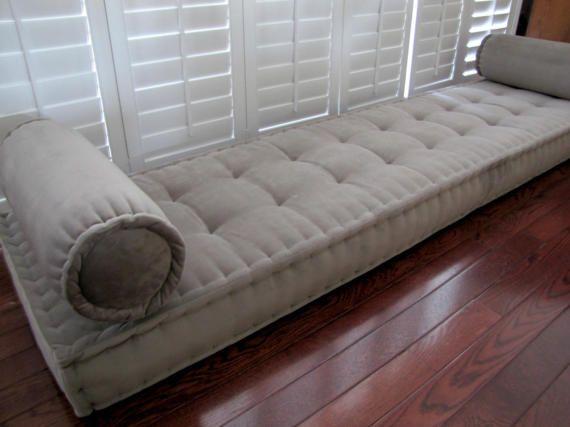 Custom Bench Cushion Velvet Window Seat Cushion French Mattress