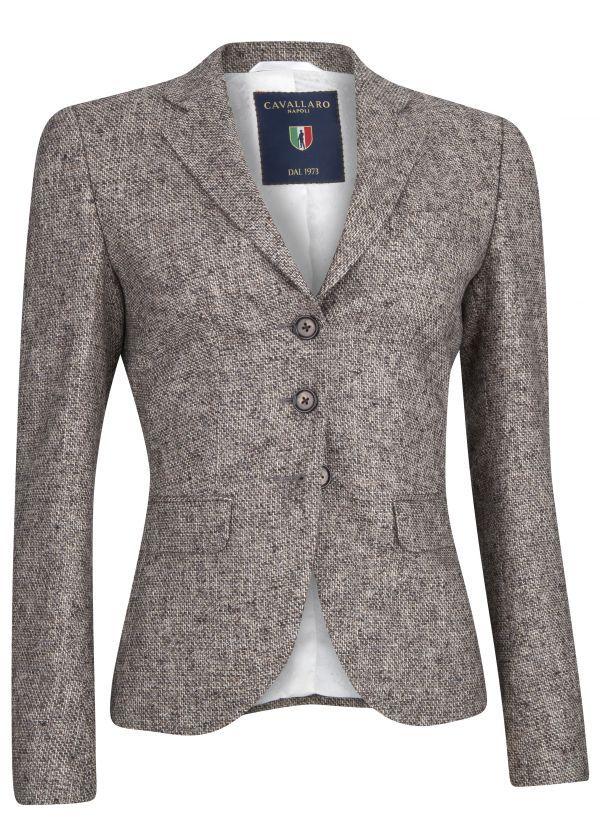 Elice Blazer #blazer #brown #textured #newarrivals #FW15 #Fall #Winter #kleding #dameskleding #womenswear #CavallaroNapoli #shop #fashion #Italiaansekleding #stijlvol #italy