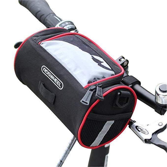 Traderplus Bike Basket Bicycle Handlebar Bag With Shoulder Strap For