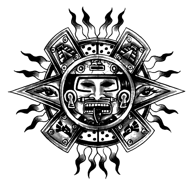 Arm Tattoo Png Maori: Coloring Page: Aztec Mythology (Gods And Goddesses) #36