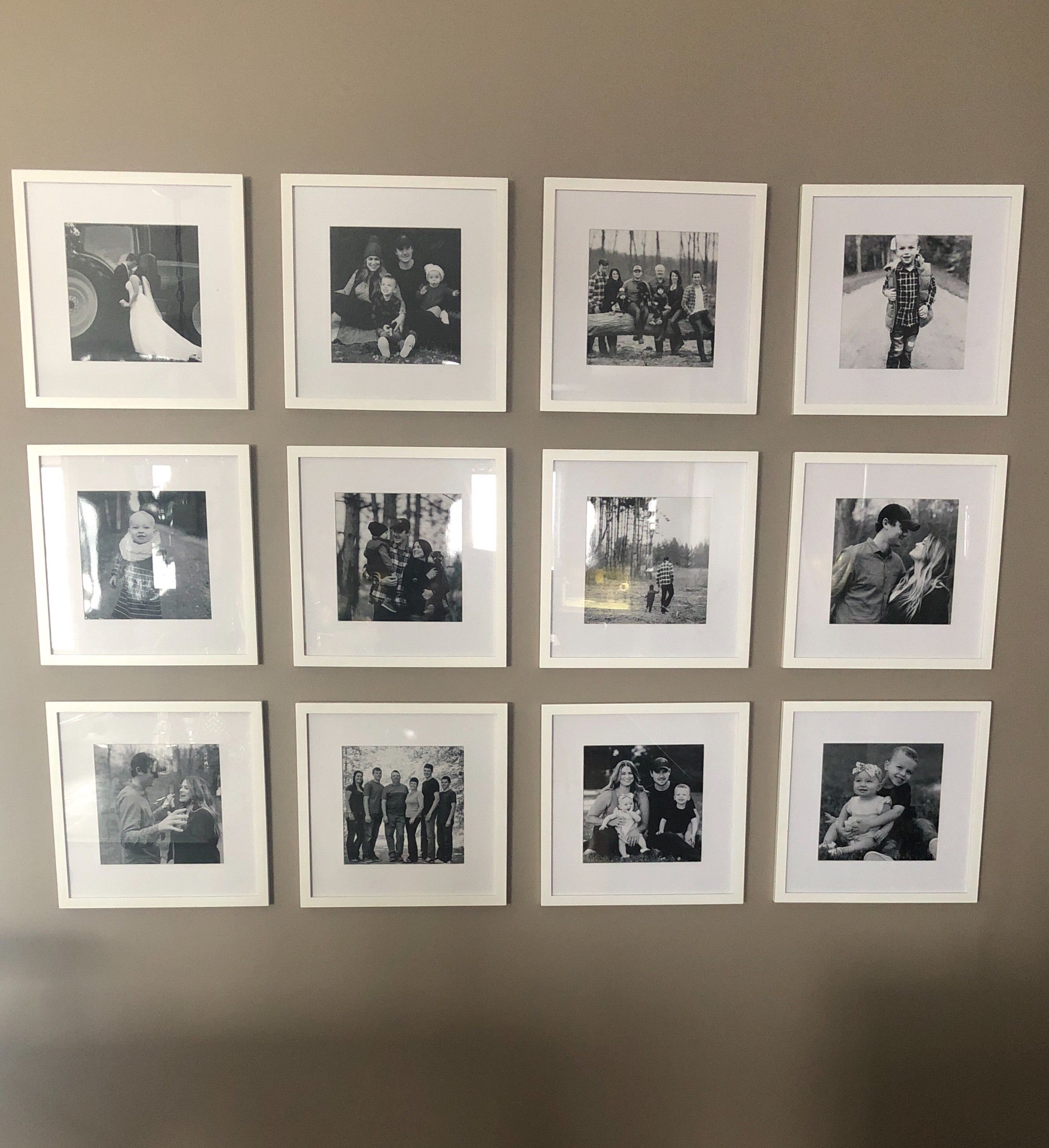 White Frame Photo Wall Photo Wall Wall Photo Wall Collage
