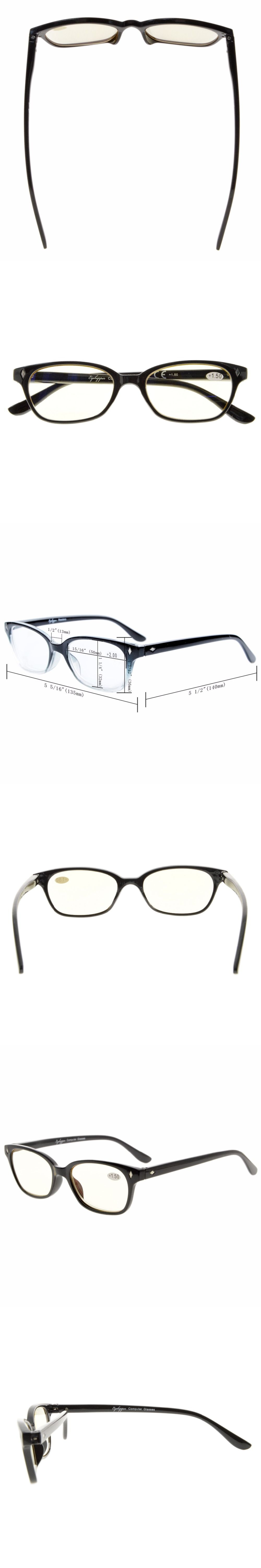 e485bc8262e CG068 Eyekepper Vintage Plastic Frame Spring Hinges Computer Reading  Glasses Readers Eyeglasses Yellow Lens
