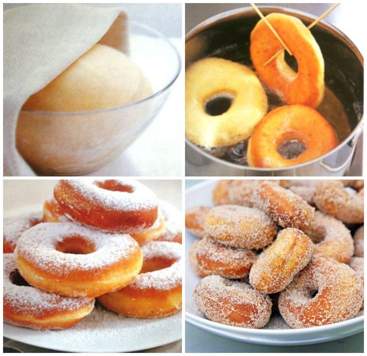 Doughnuts ou Donuts de Creme de Leite Azedo Ingredientes 440 g de farinha de trigo 1 colher de chá de  sal 1 pitada de noz-moscada ralada 1 colher de sopa de fermento em pó 2 ovos médios ( 100 g no total ) 250 g de açúcar 200 g de creme de leite azedo ( sour cream ) 3 colheres de sopa de leite integral 45 g de manteiga sem sal, derretida